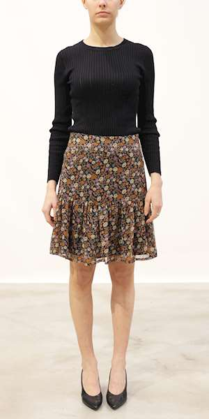 GONNA/MINIGONNA SCOTCH&SODA SHORTER LENGTH PRINTED SKIRT