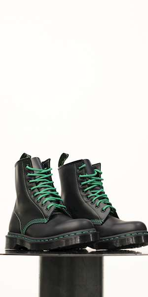 STIVALE DR.MARTENS 1460 GREEN STITCH SMOOTH