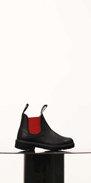 STIVALETTO BLUNDSTONE KID LEATHER RED ELASTIC