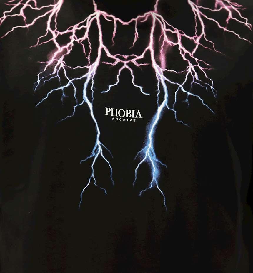 T-SHIRT PHOBIA TSHIRT PINK LIGHTNING