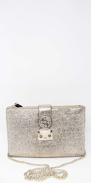 POCHETTE GUESS NIGHT TWIST CROSSBODY TOP ZIP