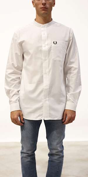 CAMICIA FRED PERRY GRANDAD COLLAR
