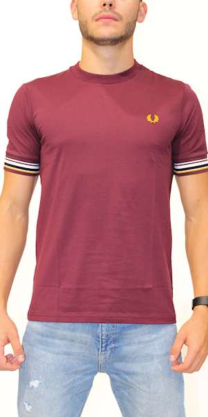 T-SHIRT FREDPERRY FP STRIPED CUFF T-SHIRT