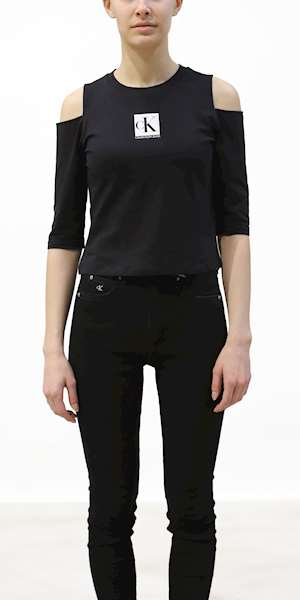 T-SHIRT CALVIN KLEIN COLD SHOULDERS