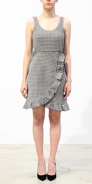 ABITO SCOTCH&SODA CHECKED RUFFLED