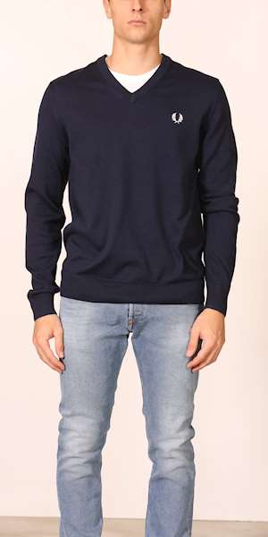 FELPA FREDPERRY FP CLASSIC COTTON V NECK JUMPER