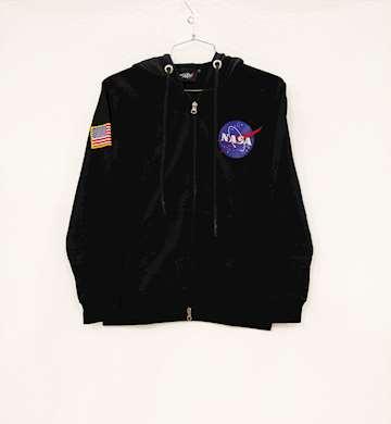 FELPA NASA CON CAPPUCCIO