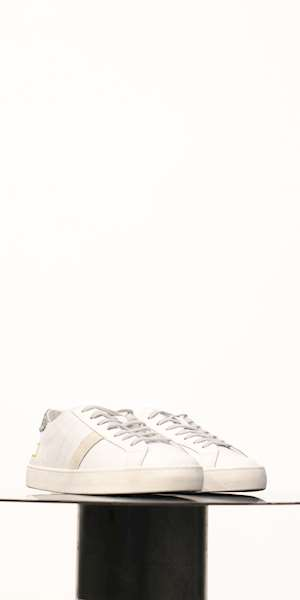SNEAKERS D.A.T.E. HILL LOW CALF WHITE-SILVER