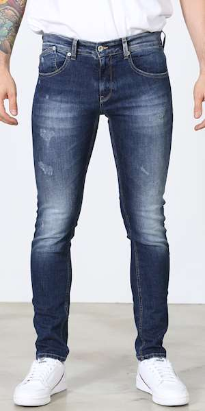 JEANS UNIFORM DEAN BLU DENIM SKINNY FIT