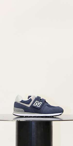 SNEAKERS NEW BALANCE SCARPA KIDS LEATHER/TEXTILE