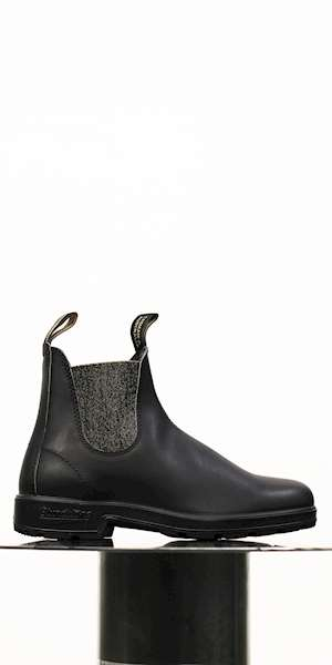 STIVALE BLUNDSTONE BLACK LEATHER GOLD GLITTER
