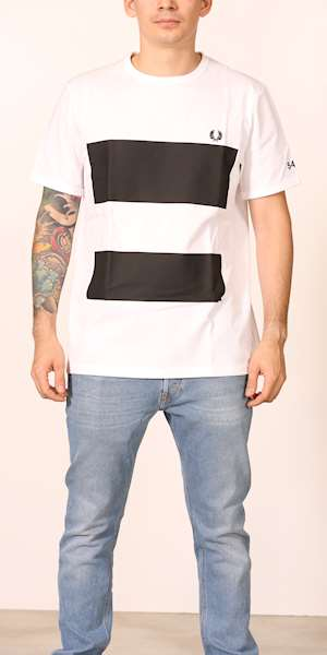 T-SHIRT FREDPERRY FP DOUBLE GRAPHIC PRINT