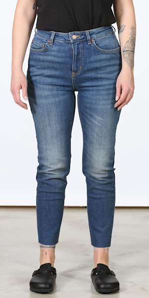PANTALONI SCOTCH&SODA HIGH FIVE CROPPED - BLUE IS THE COLOUR