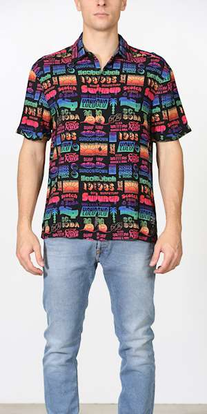 CAMICIA SCOTCH&SODA HAWAII FIT- ALL-OVER PRINTED SHORTSLEEVE VISCOSE SHIRT