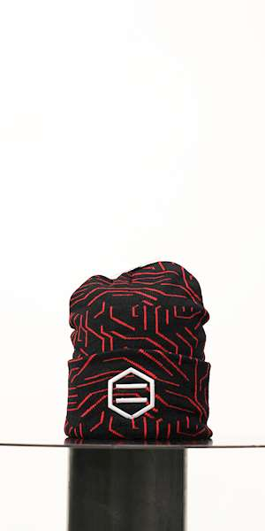 CUFFIA DOLLY NOIRE RED CIRCUIT BEANIE
