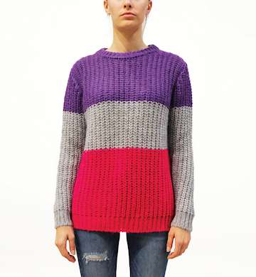 MAGLIONE ROY ROGERS CREW NECK BLOCK WOMAN MOHAIR