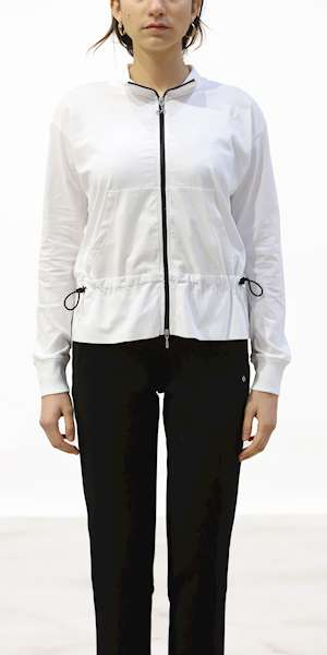 FELPA DEHA CONTRAST TRIMS FULL ZIP SWEATSHIRT