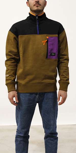 FELPA SCOTCH&SODA HALF-ZIP COLOUR