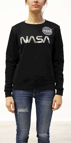 FELPA ALPHA INDUSTRIES NASA PM SWEATER WMN