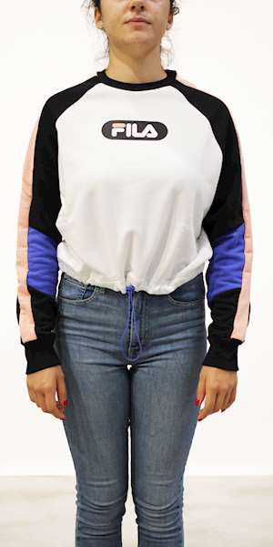 FELPA FILA WOMEN BANE BLOCKED CROPPED CREW SWEAT
